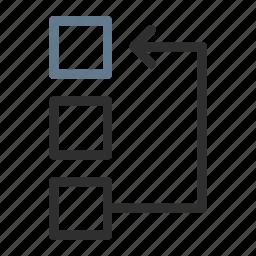 arrange, arrow, change, edit, move, rearrange, replace icon