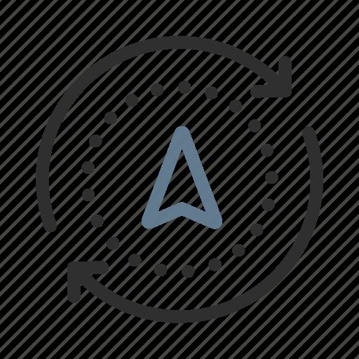 cursor, destination, gps, location, navigation, refresh, reload icon