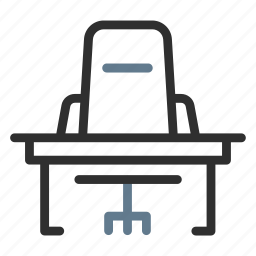 business, chair, desk, job, office, table, workspace icon