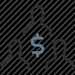 community earnings, dollar, earnings, finance, money, people, salary icon