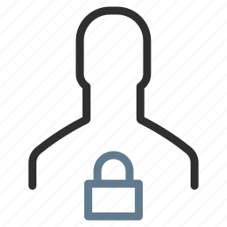 avatar, lock, password, profile, protected, safe, secure icon