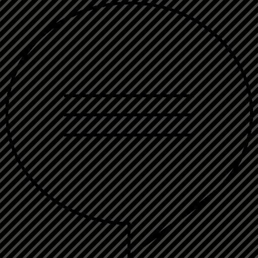 bubble, chat, comment, communication, conversation, message icon