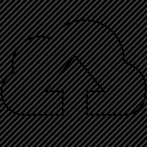cloud, data, server, storage, upload, uploading icon