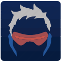 game, overwatch, player, soldier 76 icon