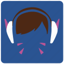 d.va, game, overwatch, player icon