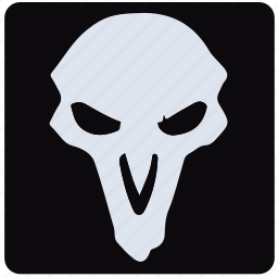 game, overwatch, player, reaper icon