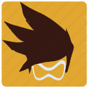 game, overwatch, player, tracer icon