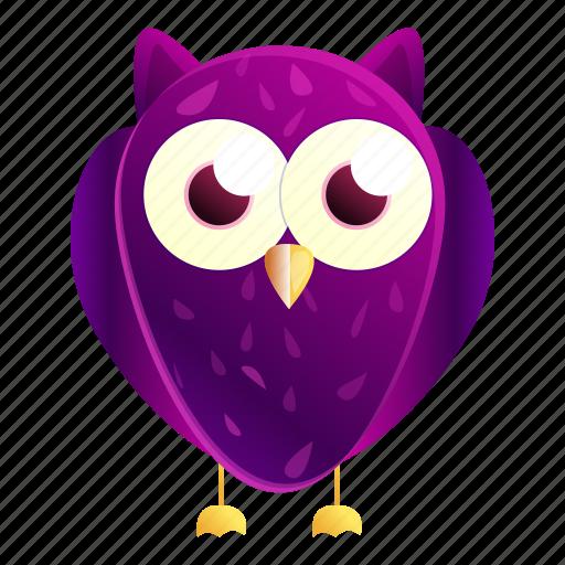 Birthday, eye, face, kid, owl, purple icon - Download on Iconfinder