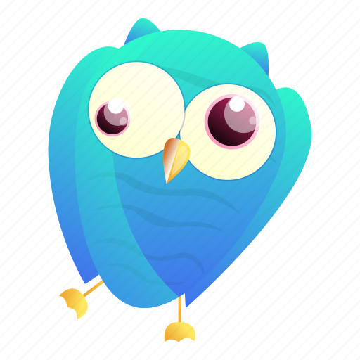 Blue, christmas, crazy, hand, owl, retro icon - Download on Iconfinder