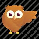 brown, girl, heart, love, owl, tree