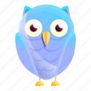 blue, christmas, gradient, hand, owl