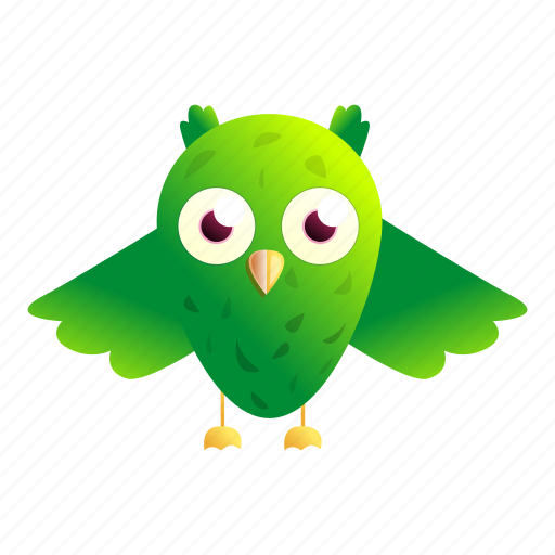 Baby, girl, green, happy, owl, vintage icon - Download on Iconfinder