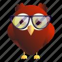 eyeglasses, fashion, grunge, music, owl, red