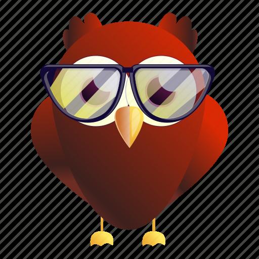 Eyeglasses, fashion, grunge, music, owl, red icon - Download on Iconfinder