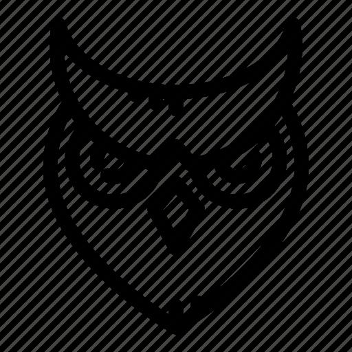 Owl, wildlife, wise, nature, wisdom, animal, bird icon