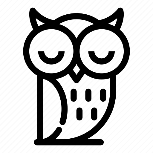 animal, bird, nature, owl, wildlife, wisdom, wise icon