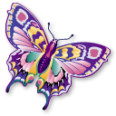 animal, butterfly, papillon, staroffice, summerbird icon
