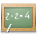 blackboard, calculate, education, math, school icon