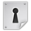 encrypted, file, key hole, lock icon