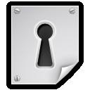 encrypted, file, key hole, lock