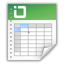 document, excel, spreadsheet, table icon