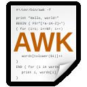awk, x icon