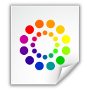 color wheel, colors, file icon