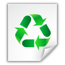 file, recycle icon
