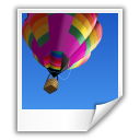 balloon, image, photo, picture, poloroid icon