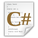 c, code, document, file, sharp icon