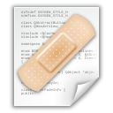 file, patch, text icon