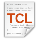tcl, text, x icon