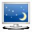 computer, desktop, monitor, night, screen, screensaver icon