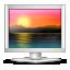 computer, desktop, monitor, screen, wallpaper icon