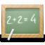 blackboard, calculate, education, math, school icon