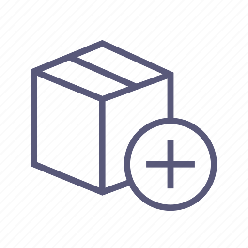 add on, box, dropbox, increase, packing, purchase, shipping icon
