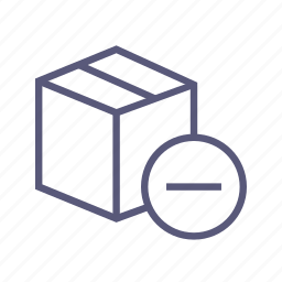 box, dropbox, packing, reduce, remove, shipping icon