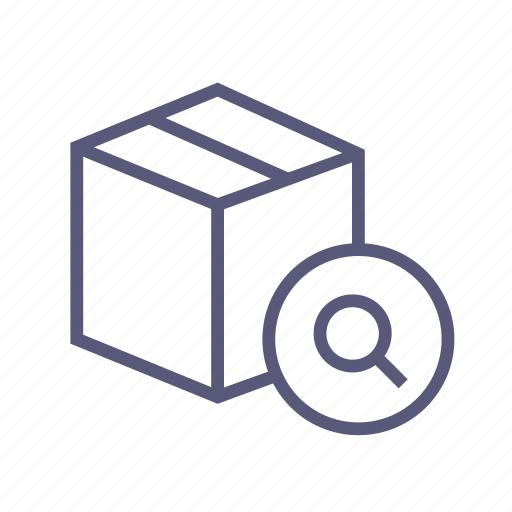 box, find, package, packing, search, shipping, tracking icon