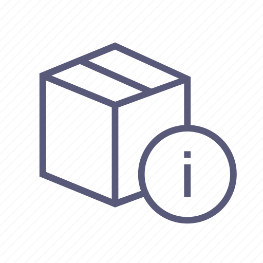 box, dropbox, info, package, packing, shipping icon