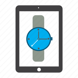 apple, chronometer, ipad, tablet, time, timer, watch icon
