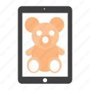 bear, ipad, teddy, toy icon