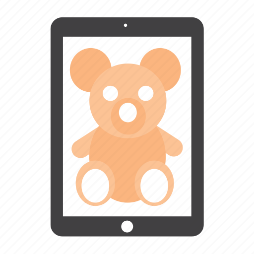 bear, ipad, teddy, toy icon