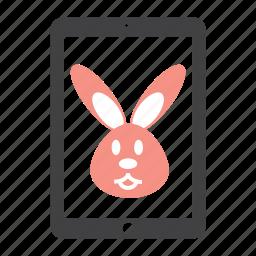 animal, bunny, ipad, rabbit, toy icon