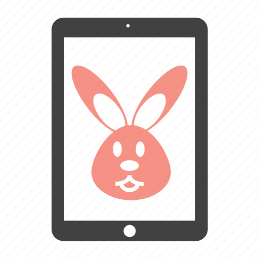 animal, bunny, ipad, rabbit, toy icon