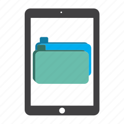 document, documents, file, files, folder, ipad, tablet icon