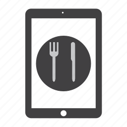 eat, food, ipad, kitchen, restaurant, tablet icon