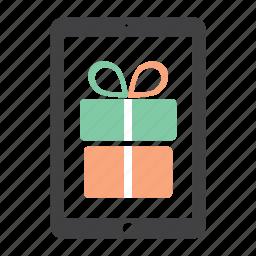 bonus, christmas, free, gift, gratis, ipad, present icon