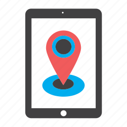 gps, ipad, location, marker, navigation, pin, tablet icon