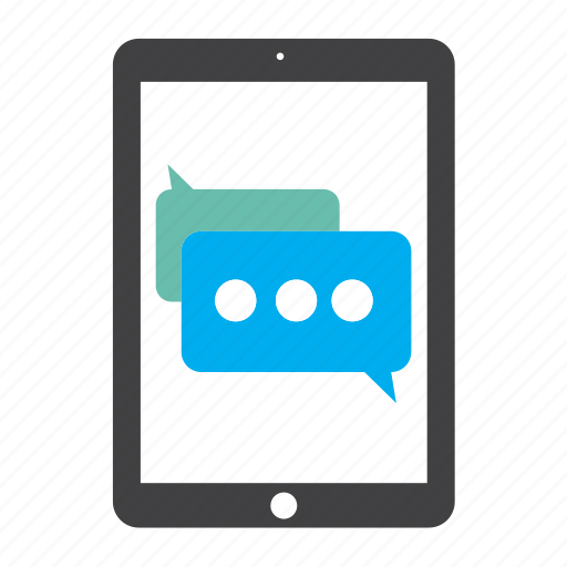 chat, communication, ipad, mail, message, messages, tablet icon