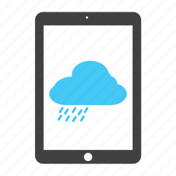 cloud, cloudy, elements, ipad, rain, weather icon
